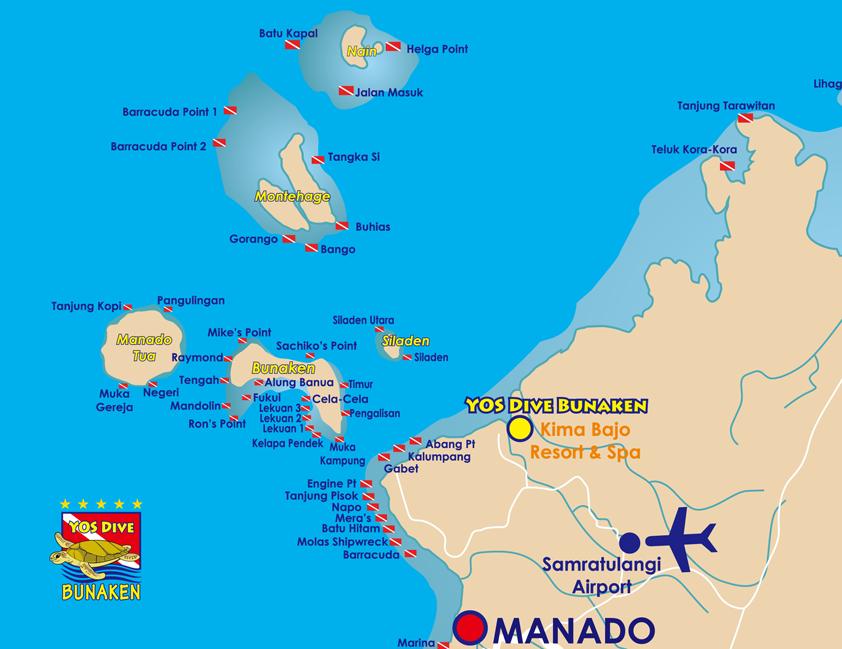 Bunaken Marine Park from Manado