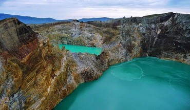 Three Colour Kelimutu Lake Indonesia